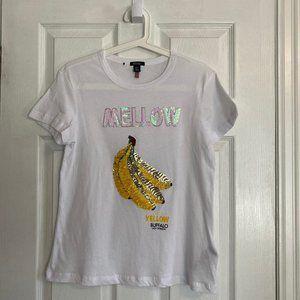 *NWOT* Buffalo David Bitton White Graphic T-Shirt
